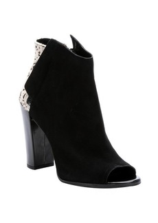 Dolce Vita black suede and calf hair 'Laine' open toe ankle booties