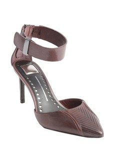 Dolce Vita bordeaux textured leather anklestrap d'orsay pumps