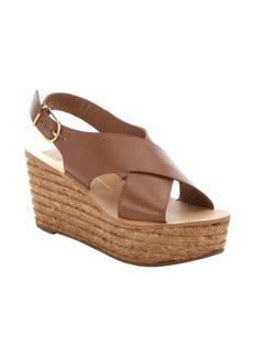 Dolce Vita brown leather 'Maize' platform wedge sandals