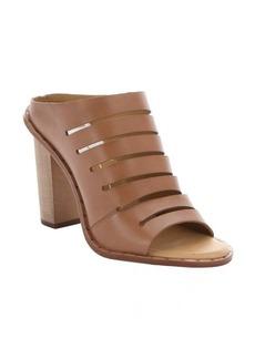 Dolce Vita caramel leather 'Orana' laser-cut mule sandals