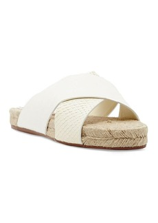 Dolce Vita Espadrille Slide Sandals - Genivee Criss Cross Embossed