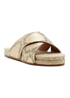 Dolce Vita Espadrille Slide Sandals - Genivee Criss Cross Metallic