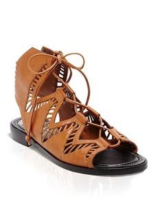 Dolce Vita Flat Ghillie Lace Up Sandals - Deklon Cutout
