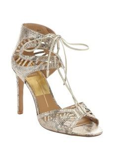 Dolce Vita gold snake embossed leather 'Henlie' t-strap sandals