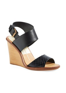 Dolce Vita 'Jodi' Snake Embossed Leather Wedge Sandal (Women)