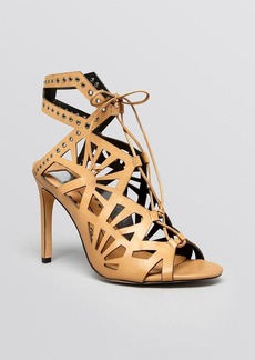 Dolce Vita Lace Up Cut Out Sandals - Helena High Heel