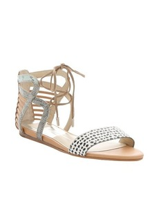 Dolce Vita mint and tan snake-embossed leather 'Ashtyn' lace-up sandals
