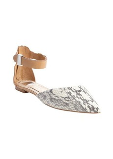 Dolce Vita natural snake leather 'Agusta' ankle strap flats