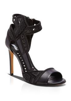 Dolce Vita Open Toe Evening Sandals - Havoc Tonal Beaded High Heel