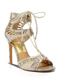 Dolce Vita Open Toe Ghillie Lace Up Sandals - Henlie High Heel
