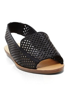 Dolce Vita Open Toe Perforated Slingback Flat Sandals - Lisco