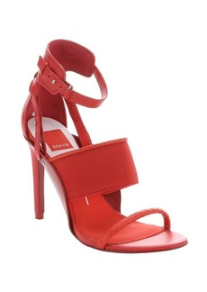 Dolce Vita persimmon leather and elastic 'Halton' stiletto sandals