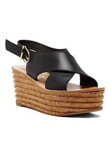 Dolce Vita Wedge Platform Sandals - Maize Textured