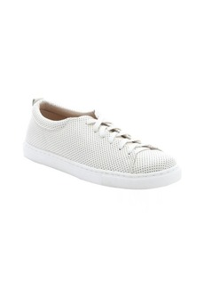 Dolce Vita white perforated leather 'Oriel' lace-up vamp