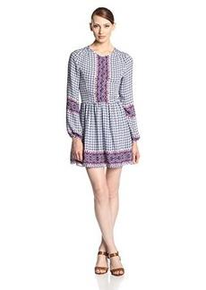Dolce Vita Women's Raisa Printed Silk Long Sleeve Dress