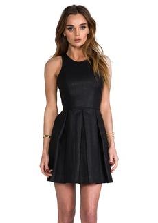 DV by Dolce Vita Alda Faux Leather Dress in Black