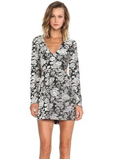 DV by Dolce Vita Barbarbella Rose Burnout Dress in Gray