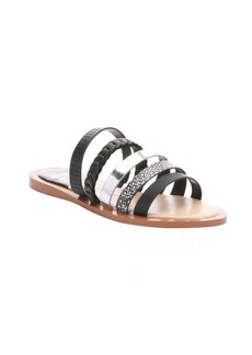 DV by Dolce Vita black and silver leather 'Nalaa' multi-strap sandals