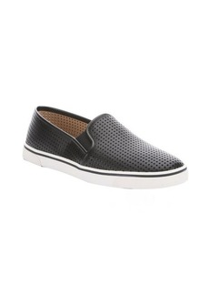 DV by Dolce Vita black perforated faux leather 'Gibsin' slip-on sneakers