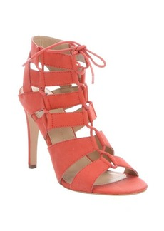 DV by Dolce Vita coral leather strappy 'Tyler' lace-up stilettos