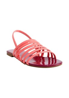 DV by Dolce Vita DV8 electric coral patent 'Arielle' slingback flat sandals
