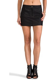 DV by Dolce Vita Groove Faux Leather Skirt in Black