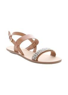 DV by Dolce Vita tan faux leather 'Vesta' crystal detail slingback sandals