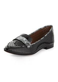 Donald J Pliner Ava Perforated Patent Loafer, Black