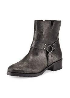 Donald J Pliner Bela Metallic Brushed Leather Bootie, Pewter