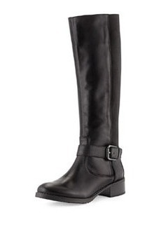 Donald J Pliner Beso Leather Stretch Boot, Black