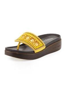 Donald J Pliner Fifi Beaded Platform Sandal, Lemon