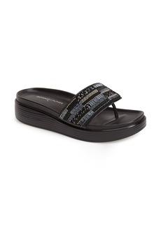 Donald J Pliner 'Fifi' Beaded Thong Wedge Sandal (Women)