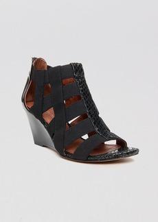 Donald J Pliner Open Toe Wedge Sandals - Pira Stretch