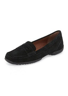 Donald J Pliner Vegga Perforated Suede Loafer, Black