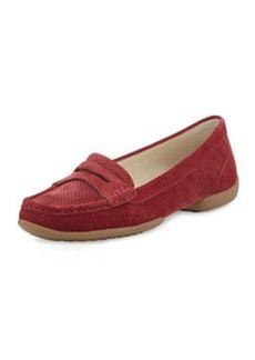 Donald J Pliner Vegga Perforated Suede Loafer, Red