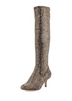 Donald J Pliner Yazi Fabric Knee Boot, Bronze