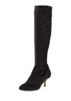 Donald J Pliner Yazi Velvet Fabric Boot, Black