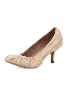 Donald J Pliner Yuka Shimmery Printed Leather Pump, Copper