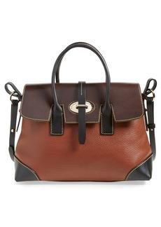 Dooney & Bourke 'Verona Large Elisa' Grained Leather Satchel