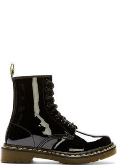 Dr. Martens Black Patent 1460 W 8-Eye Boots