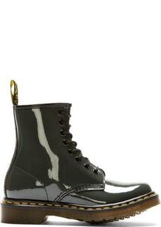 Dr. Martens Dark Grey Patent 1460 W 8-EYE Lamper Boot