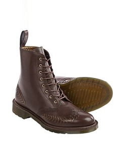 Dr. Martens Olive Leather Boots (For Women)