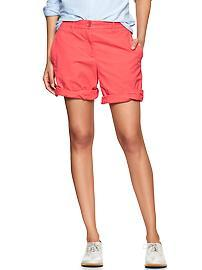 Boyfriend roll-up shorts