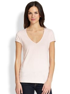 Saks Fifth Avenue Collection Cotton V-Neck Tee
