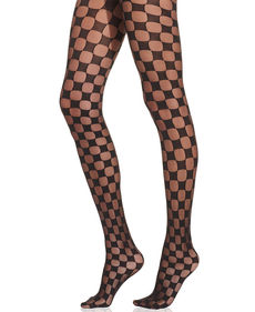 Hue Checker Tights