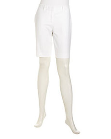 Lafayette 148 New York Metropolitan Stretch City Shorts, White