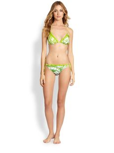 Jean Paul Gaultier Two-Piece Ruffled String Bikini