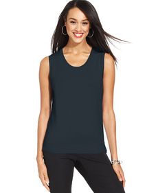 Charter Club Sleeveless Crew-Neck Shell