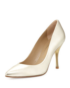 Donald J Pliner Brave Metallic Leather Pump, Platino