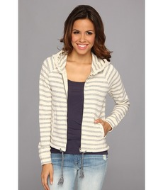 Lucky Brand Stripe Zip-Up Hoodie